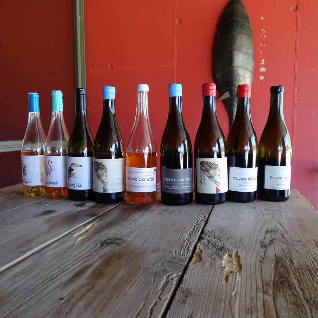 Wijnen Terra Remota op een rij